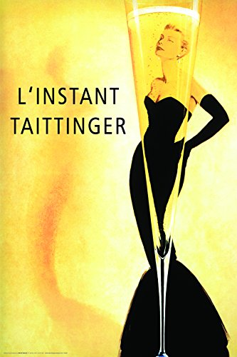 L'Instant Taittinger Grace Kelly Champagne Ad Vintage Alcohol Advertising Decorative Art Poster Print