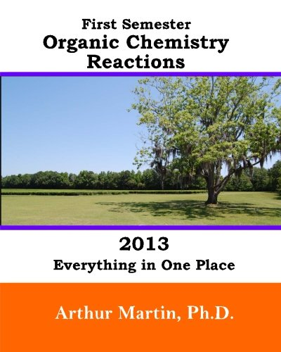 First Semester Organic Chemistry Reactions 2013: Everything in One Place