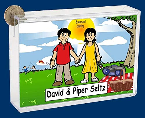 Personalized NTT Cartoon Side Slide Frame Gift: Park Lovers Gift, Couple, First Date, Anniversary, Vacation