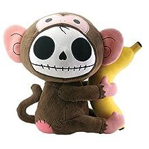 Munky Monkey Furry Bones Plush Stuffed Animal Doll, Large