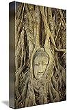 Wall Art Print entitled Thailand, Ayuthayai, Stone Buddha Head With Tree R by Design Pics | 21 x 32