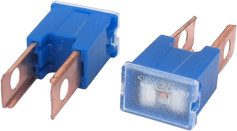 12V 24V 32V VOLT 100A AMP BLUE MALE PAL SLOW BLOW FUSE JAPANESE CAR JASO 0612