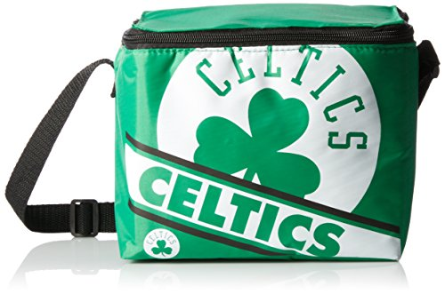 Boston Celtics Big Logo Stripe 6 Pack Cooler