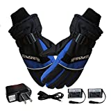 Telisii Heated Gloves with Rechargeable Battery USB Hand Warmer Electric Thermal Gloves for Men and Women,Warm Gloves for Cycling Motorcycle Bicycle