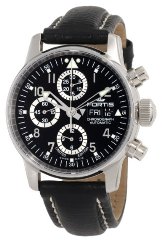 Fortis Men's 597.20.71 L.01 Flieger Chronograph Automatic Day and Date Limited Edition Watch