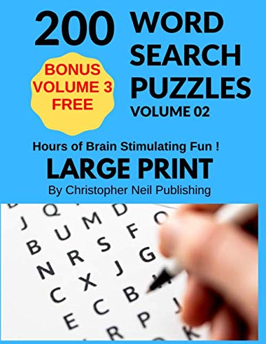 200 Word Search Puzzles: 200 Exciting Large Print Word Searches
