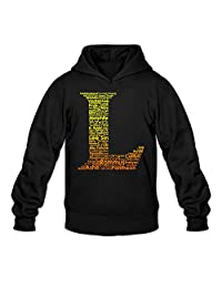 YQUE Men's Video Game League Of Legends L Logo Hoodies Hoodie Size M Black