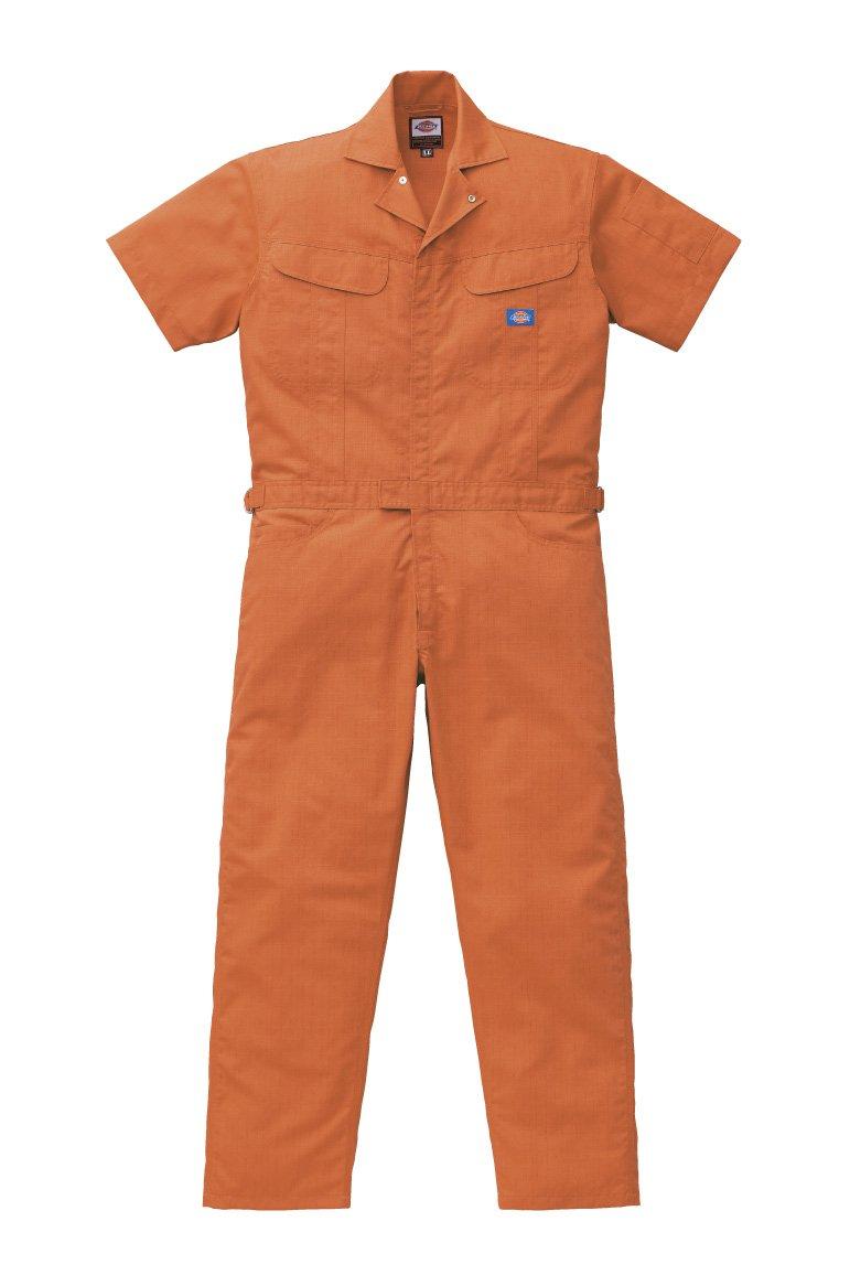 ディッキーズ Dickies (山田辰) 夏用半袖 ツヅキ服 1111 オレンジ 3Lサイズ B00SMM6Q1K オレンジ 3L