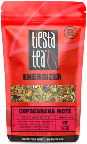 Tropical Mango Mate Tea | COPACABANA MATE 1.8 Ounce Pouch by TIESTA TEA | High Caffeine | Loose Leaf Mate Tea Energizer Blend