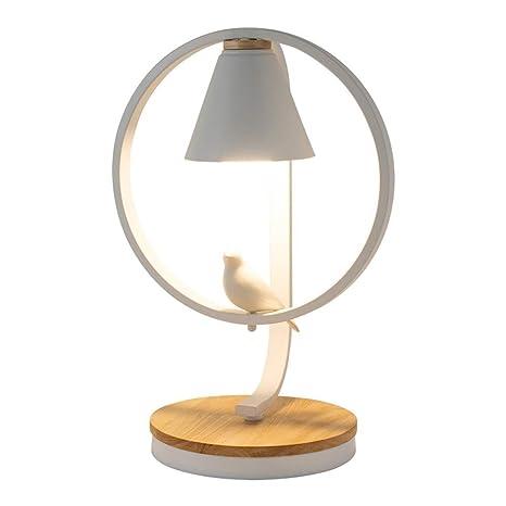HWZQHJY Nordic Lámpara de mesa pequeña Dormitorio creativo ...