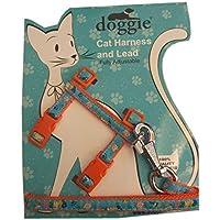 Doggie Kitty Kedi Göğüs Tasması 22/36 cm Turuncu