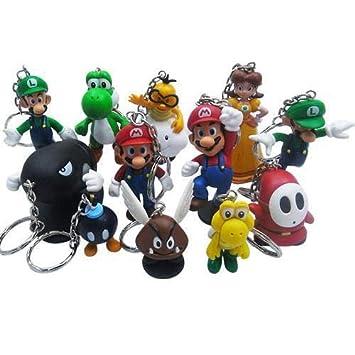 Yvonnezhang PVC Super Mario Llavero Bros Luigi Figuras de ...