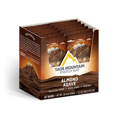Taos Mountain Energy Bar – Almond Agave (2.2 Ounce, 12 Count)