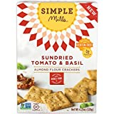 Simple Mills Almond Flour Crackers, Sundried Tomato/Basil, 4.25 Ounce by Simple Mills