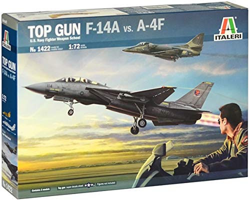 Italeri IT1422 1: 72 US Navy Figher Weapons School Top Gun F14-1 Vs A-4F