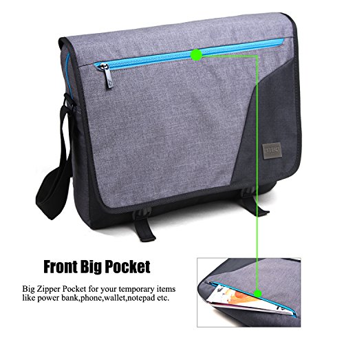 acd9118675a3 best DTBG Laptop Messenger Bag 15.6 Inch Nylon Laptop Bag School ...