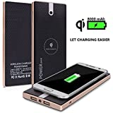 Cloele® Super Speed Qi Wireless Power Bank 8000mAh Portable Wireless Charger Power Bank 2 in 1 Fast Charging for Qi Devices iPhone 6 /6s Plus Samsung Galaxy S5/S6/S7 Edge Note5