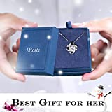 """Necklace,Christmas Gift with Exquisite Package 925 Sterling Silver Pendant Necklace J.Rosée Fine Jewelry for Women """"Never Ever Be Apart"""" 18""""+2""""Extender, Gift for Girlfriend Mother"""
