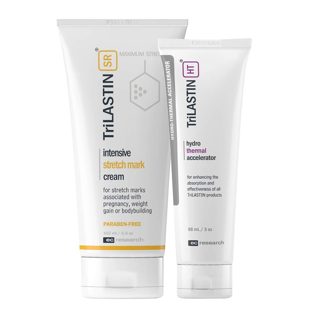 TriLASTIN-SR Maximum Strength Stretch Mark Cream with Hydro-Thermal Accelerator Bundle