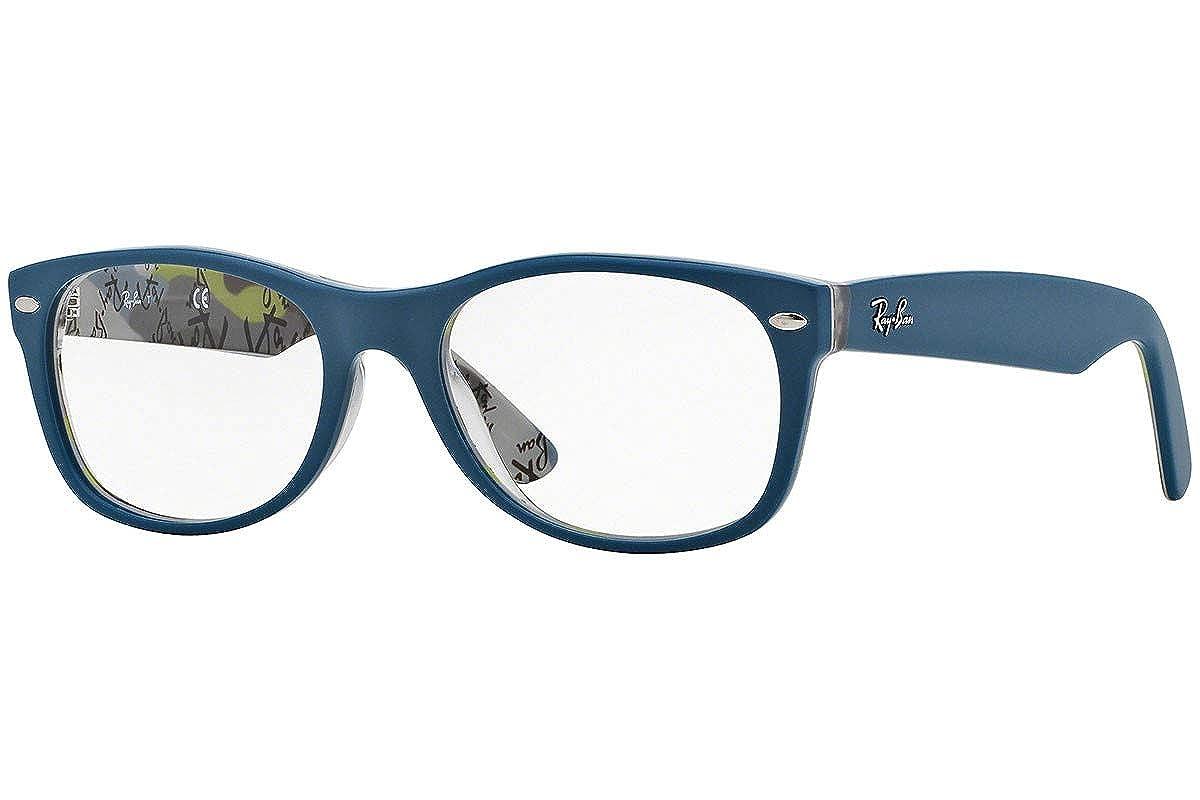 e84b0af080eb5 Amazon.com  Ray Ban RX5184 Eyeglasses 52-18-145 Top Blue On Texture 5407  RB5184  Clothing