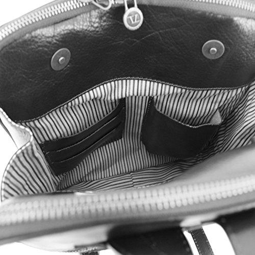 Marrón de TUSCANY al compact Bolso mujer LEATHER TL141239 Piel marrón hombro para rzqz7Xx1w