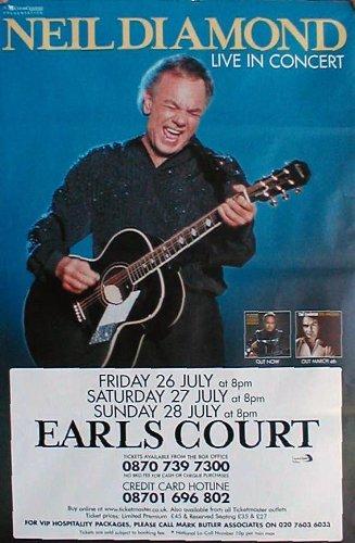 40x60 Poster Print Neil Diamond- Live at Earls Court - Neil Diamond Barbara Streisand