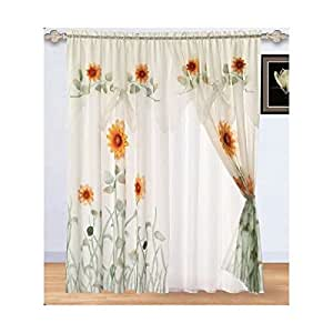 Chezmoi Collection 2 Panel Of White Green