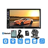 Toogoo 7018G 2 Din 7 inch HD Touch Screen Car Radio Multimedia MP5 Player GPS Navigation with Camera and Middle East Maps Bluetooth Audio Stereo