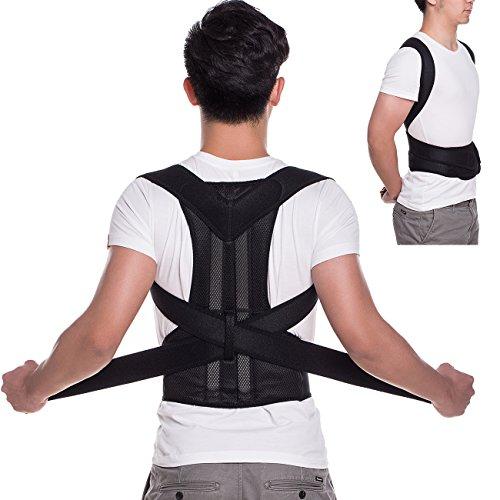 KIWI RATA Magnetic Posture Corrector Back Braces Shoulder Waist Lumbar Support Belt Humpback Prevent Body Straighten Slouch Compression Pain (Magnetic Shoulder Collar)