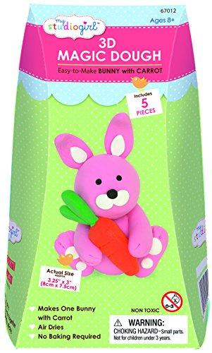 My Studio Girl 3D Magic Dough - Bunny with Carrot (Girls Magic Hat Bunny Costume)