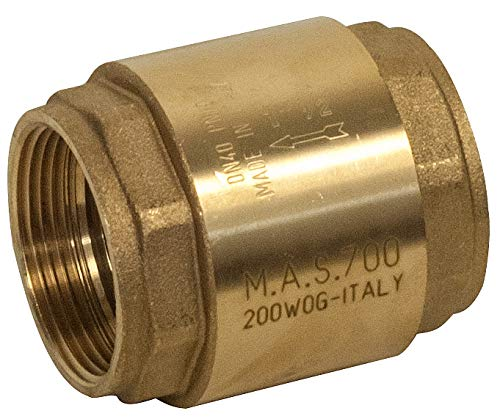 700 Series In Line Valve - M.A. Stewart & Sons 700-32 700 Series Forged Brass Spring Loaded In-Line Check Valve, 2