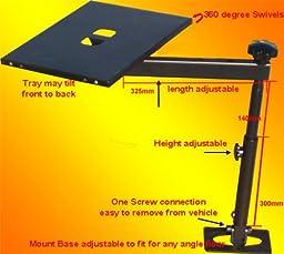 FANTASYCART Notebook Laptop Mount Desk Auto Car Truck Stand Holder(metal)