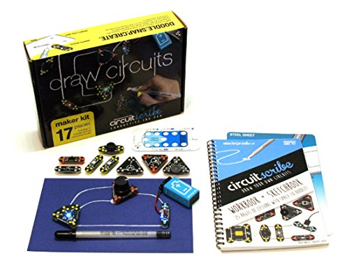 Circuit Scribe Maker Kit  Includes STEM Workbook, Conductive Silver Ink Pen, and Everything You Need to Learn, Explore, and Create Your Own Circuits and Switches!