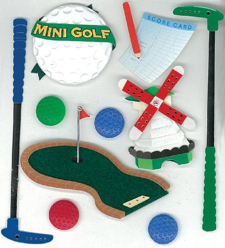Jolees Boutique Golf - Jolee's Boutique  Miniature Golf Dimensional Stickers