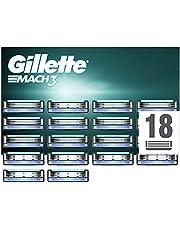 Gillette Mach3 Scheermesjes Voor Mannen Navulmesjes, 18 Stuks