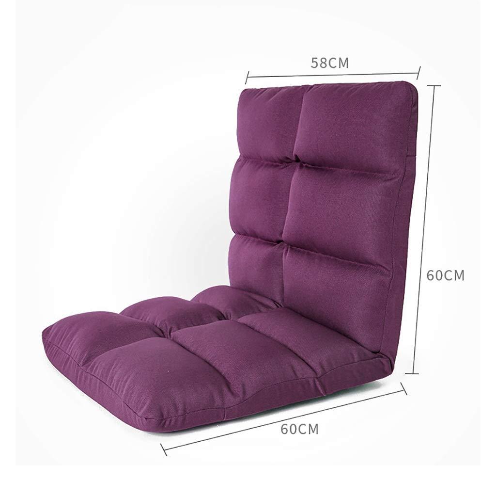 MDBLYJ Lazy Sofa Faltbare Computer Rückenlehne Stuhlboden Sofa Bay Fenstersessel, (Farbe   B, größe   12g) A 12g
