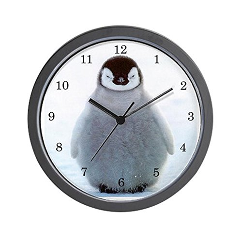 CafePress Penguin Clock Unique Decorative 10