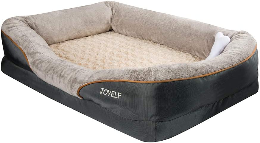 Joyelf Xlarge Memory Foam Dog Bed Orthopedic Dog Bed Sofa With Removable Washable Cover And Squeaker Toy As Gift Amazon In Pet Supplies