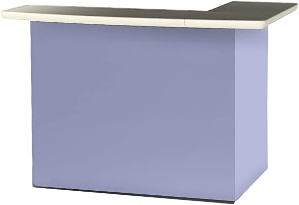 Best of Times 2000W1328 Solid Lavender Portable Patio Bar Table, One Size, L-Shaped