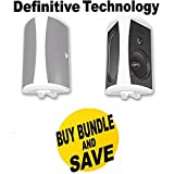 Definitive Technology AW 5500 Outdoor Speakers (Pair White) Bundle by Electronics Expo