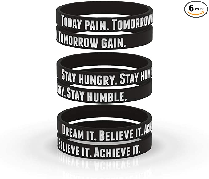 Black Pride Movement Equality Peace Justice Unisex for Men Women Teens AMPM Collective Silicone Motivational Wristbands 6//12//24 Rubber Inspirational Quote Bracelets