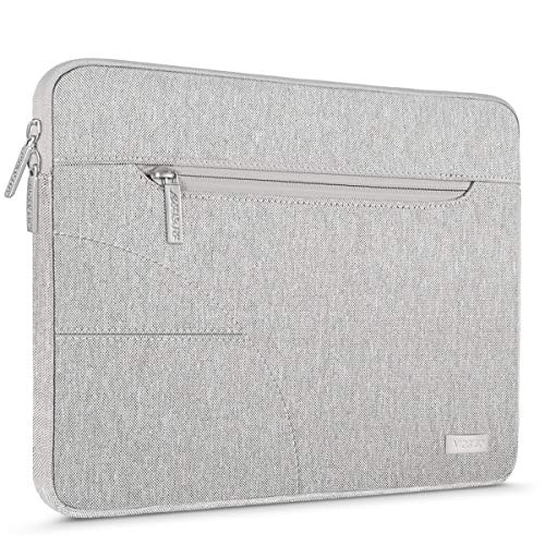 MOSISO Laptop Sleeve Bag Compatible 13-13.3 Inch MacBook Pro, MacBook Air, Ultrabook Netbook Tablet, Polyester Protective Carrying Case Cover, Gray
