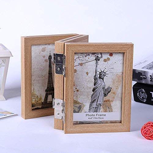 (Leap desktop folds vertical solid wood photo frames for triple 5x7 picture frame with hd glass)