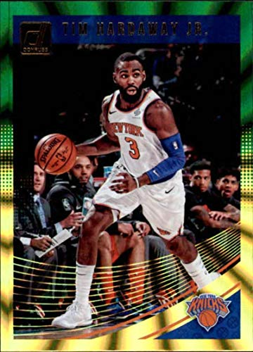 2018-19 Donruss Holo Green and Yellow Laser #67 Tim Hardaway Jr. New York Knicks NBA Basketball Trading Card