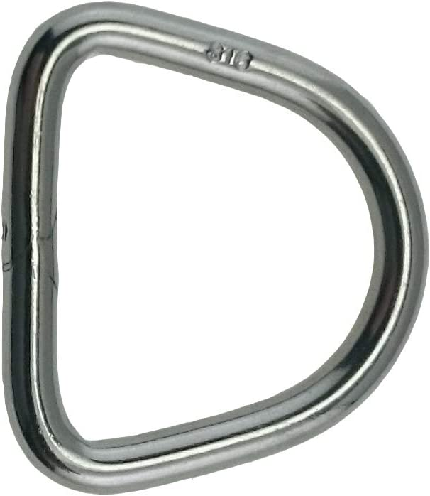"Marine Grade 4mm x 30mm Stainless Steel 316 Round Ring Welded 5//32/"" x 1 3//16/"""