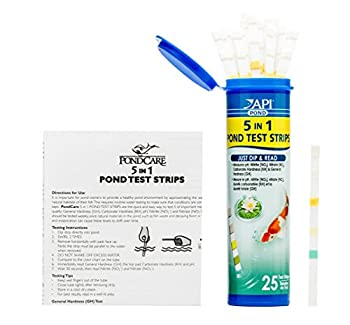 Api Pond 5 In 1 Pond Test Strips Pond Water Test Strips 25-count 10