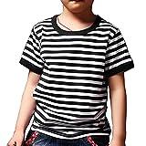 #8: Ezsskj Kids Boys Short Sleeve Crew Neck Striped T Shirts Children's Toddler Tee