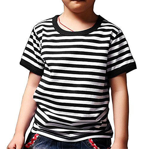 Ezsskj Kids Boys Halloween Costume Addams Pugsley Shirt Children's Toddler Striped T Shirts Tee Blac - http://coolthings.us
