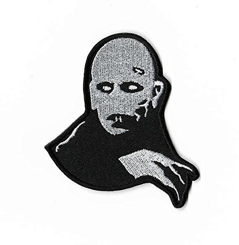Count Orlock Patch Embroidered Iron / Sew on Badge Horror Movie Nosferatu Dracula Costume Souvenir Applique -