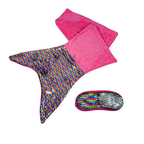 Shop Zoombie Flip Sequin Mermaid Tail Wearable Blanket and 7